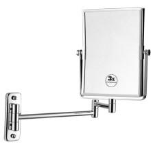 Espejo de baño de pared cromado de doble cara de forma cuadrada