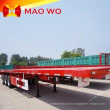 Venta directa Tri-alxes remolque contenedor de plataforma plana de 45 toneladas