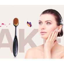 Toothbrush Estilo Oval Foundation Makeup Brush com Pacote Individual