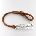 Promotion Gift Customerized Leather Bracelet Fashion Jewelry
