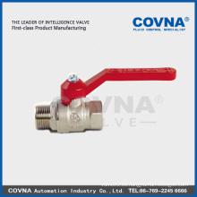 Válvula de bola de flujo completo macho / hembra de aluminio de rosca LL1061