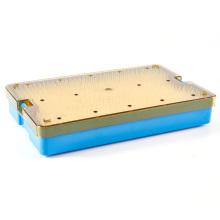 Boîte de stérilisation d'instrument de précision médicale en plastique PC