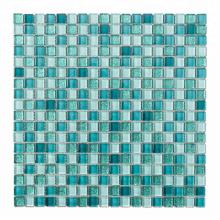 High-end 15*15 Blue Square Sand Glass Mosaic