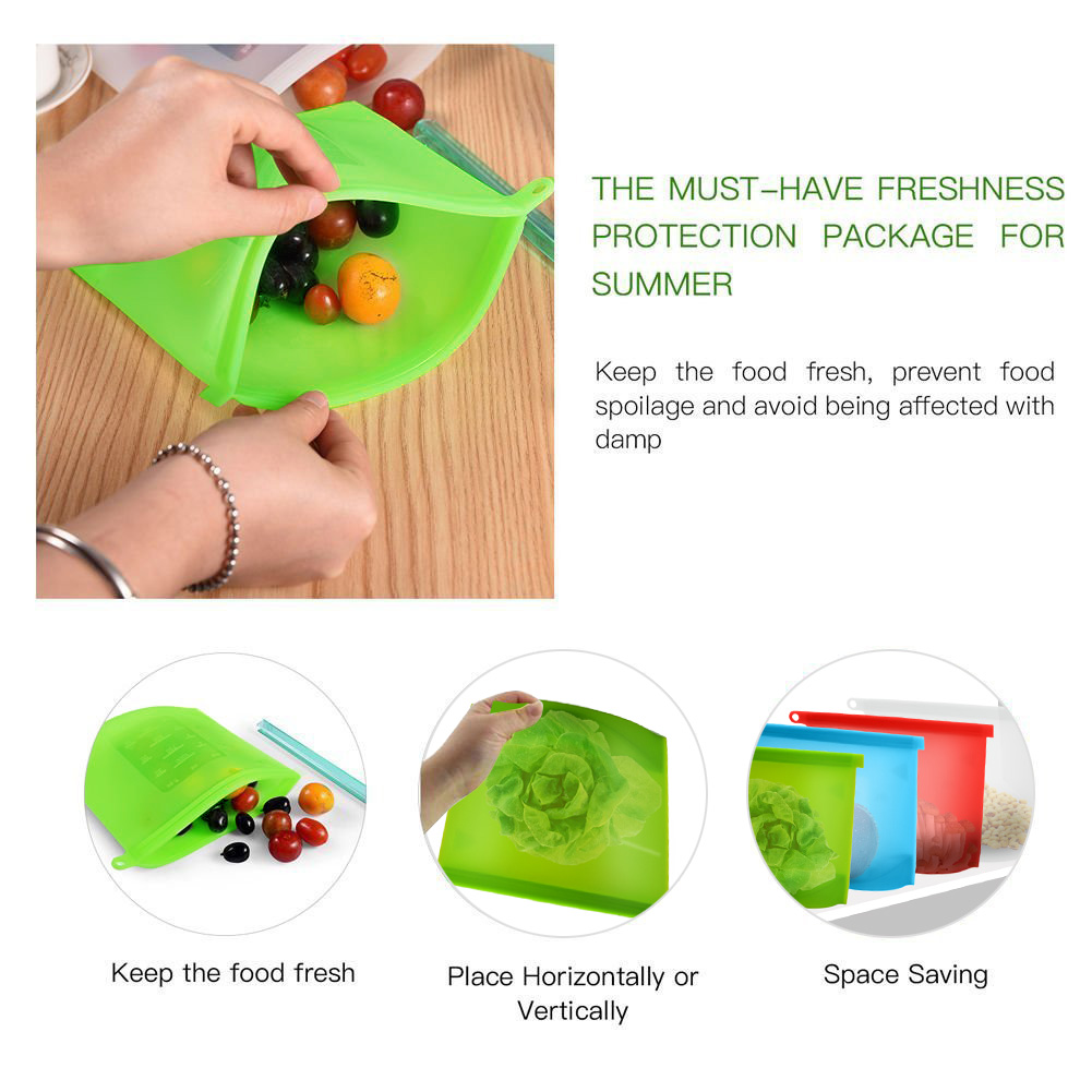 Food Storage Plastic Silicone Food Bag