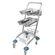 Praktischer IV-Wagen aus Edelstahl des Krankenhauses