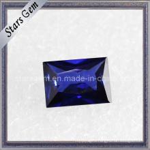 Blue Rectangle Shape Baguette Cut Cubic Zirconia