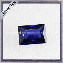 Rectângulo Azul Forma Baguette Corte Cubic Zirconia