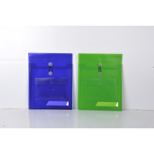 Plastic printing  button envelope file folder