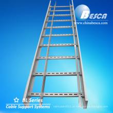 Sistemas de apoio galvanizados quentes da escada do cabo da fábrica das bandejas de cabo do mergulho