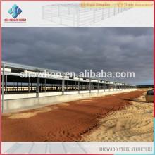 Showhoo multi-étages assemblé en champ préfabriqué construction structure en acier gril / couche grange / ferme de poulet