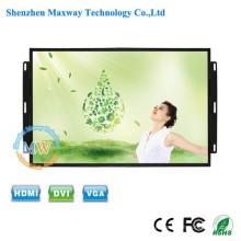 haute luminosité TFT couleur 15,6 pouces aucun moniteur LCD à cadre avec des boutons de menu