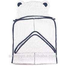 Serviette à capuchon 100% coton biologique pour bébés et garçons - Serviette de bain antibactérienne et hypoallergénique avec capuche pour nouveau-nés