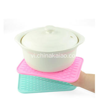 Thời trang Pink Silicone Pot Wrapper Bảng Glass Coaster