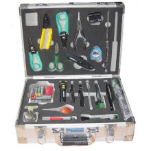 Caja de herramientas de aluminio con bolsillos para herramientas