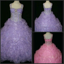 Enchanting Little Rosie Rhinestone Covered Gathered Wholesale Little Girl Pageant Dress DF051