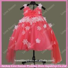 RP0064 Vestido de baile cheio de tule amostra real flor menina vestido padrões meninas vestido de festa vestido de festa de aniversário