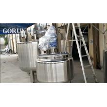 Chine Ventes directes d'usine Livraison rapide à double couvercle ouvert réservoir de mélange Paddle + grattoir mélangeur réservoir