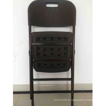 Nova cadeira plástica plástica para uso em restaurantes Rattan