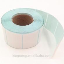 оптовая пользовательский пустой белый этикетки рулона бумаги