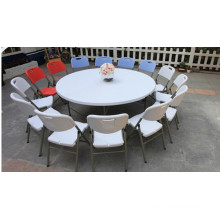 2 Meters Blow Mold Banquet Round Folding Table for 12 People (HQ-Y200)