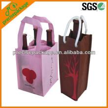 cute mini nonwoven wine bottle bag