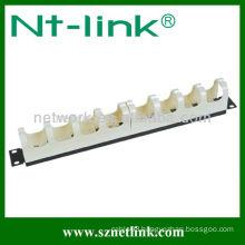 "19"" 1U 10 rings plastic 110 cable management"