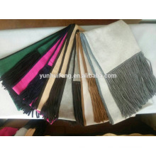 cashmere shawl with knitted fringe