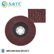 Disco flap tratamento de superfície para aço inoxidável com certificado