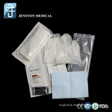 Conjunto descartável de cateterismo uretral
