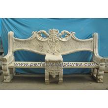 Cadeira de jardim de mármore de pedra esculpida para decoração de jardim (QTC028)