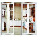 Portes pliantes en verre cadre de séparation intérieur porte pliante