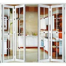Falttür für Trennwandrahmen aus Glas