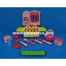 Conjunto de combinación de plástico, juego de té juguetes, juego de cocina juguetes (259809)