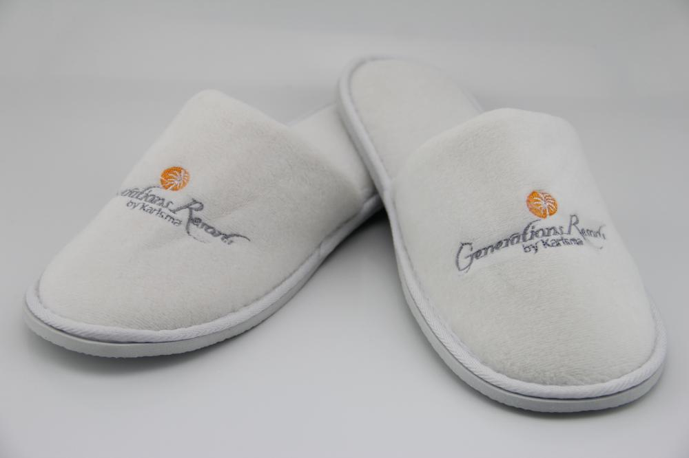 Embroidered Indoor Slippers For 5 Star Hotel