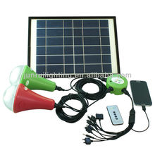 9w solar powered indoor light with Monocrystalline solar panel