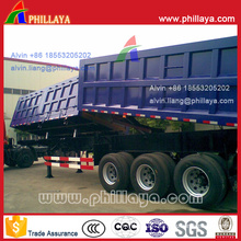 Double-Boxed Side and End Dump Tipper Semi Trailer