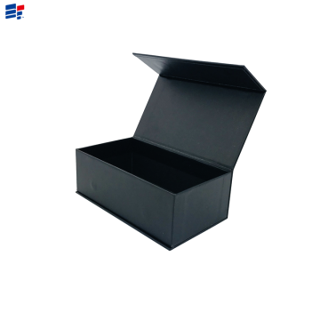 Caja de papel plegable negra simple