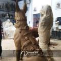 Металл ремесло высокого качества бронзовая статуя собаки на продажу
