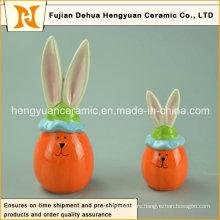 Прекрасный мультфильм керамический декоративный пасхальный кролик