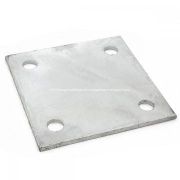 Plaque de base de bride de plancher en acier zingué de haute qualité