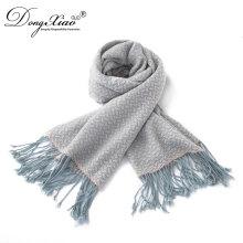 Écharpe faite sur commande du foulard modal d'écharpes faites sur commande d'écharpe de tissu de cachemire pur