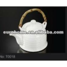 hotel supplies crockery porcelain tea pot (NO. T0018)