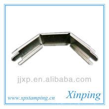 Titular de metal de canto de precisão com revestimento de níquel