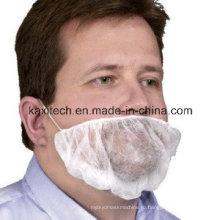 Белый одноразовые PP Крышка бороды, с двойным ухо-петли