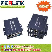 300м за RJ45/кабель cat5e/6 1х2 VGA-удлинитель (YL3502)