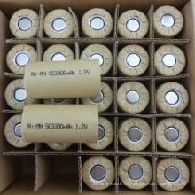 ni-mh sub c tamaño 1.2 v SC 3300 mah batería recargable de Shenzhen