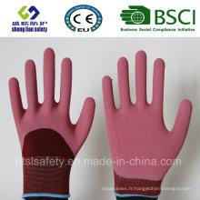 Gants de protection du travail Latex de nylon Gants de sécurité Gants en latex