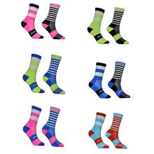 6 цветов персонализированные носки экипажа женщин сжатия атлетические велосипедные