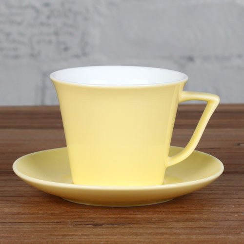 6oz yellow espresso cup and saucer