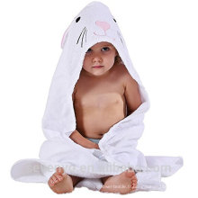 Serviette de bain à capuche bébé biologique Wrap en blanc de haute qualité Doux Bambou Couverture Soft antibactérienne organique, serviette hypoallergénique